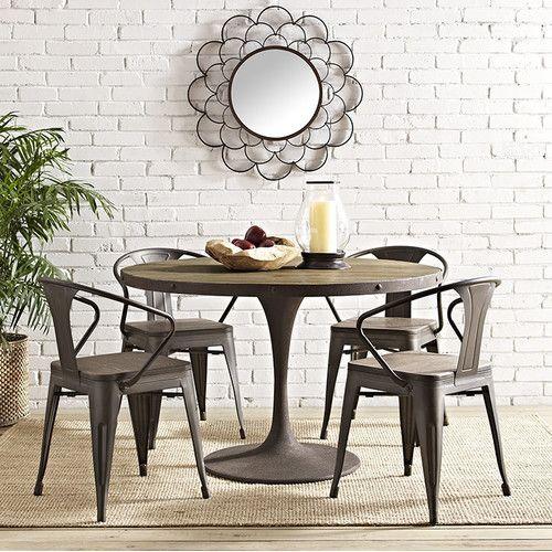 Esszimmermöbel modern mit bank  Die besten 25+ Rustic round dining table Ideen auf Pinterest ...
