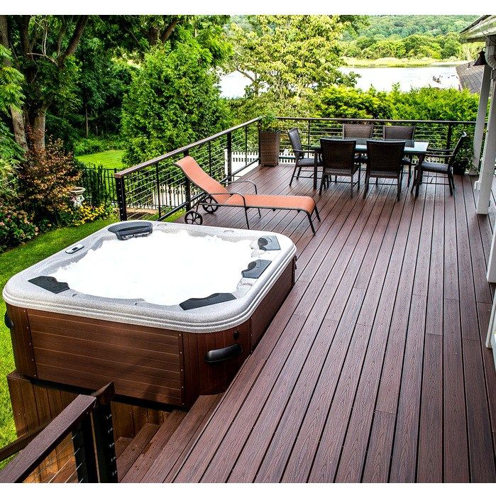 17 best ideas about hot tub deck on pinterest hot tub for Spa patio designs