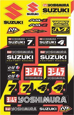 N-STYLE-YOSHIMURA SUZUKI UNIVERSAL DECAL KIT V1 pn# N30-1056