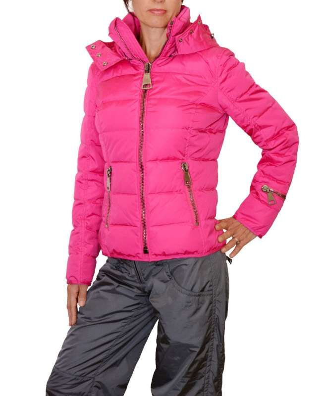 Authier Pink Down Jacket and Grey Ski Pants