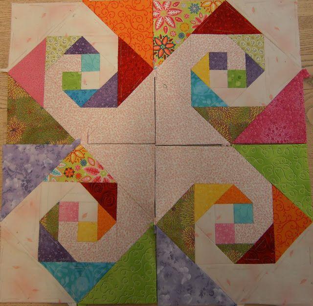Patchwork-blomsten: Månedsblokke til tæppe ...
