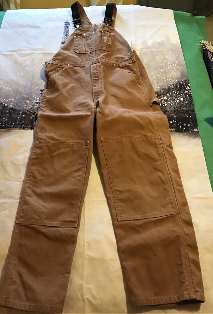 d07251d1b6 100% Cotton Duck, Heavy Weight to Last! 34X30, Brown in color, work, play  or hunting, these Overalls are Ready! | eBay! Carhartt Cotton Duck Bib ...