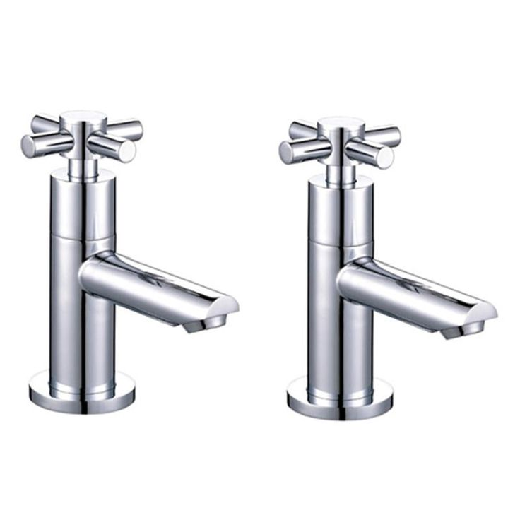 ASTINI Space Chrome Bathroom Hot & Cold Basin Sink Taps P001X-Mybathroom.co.uk