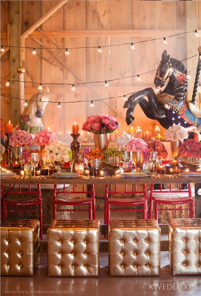 Decoração para mesa | Tema de festa de aniversário Circo Vintage | Mesa de doces: