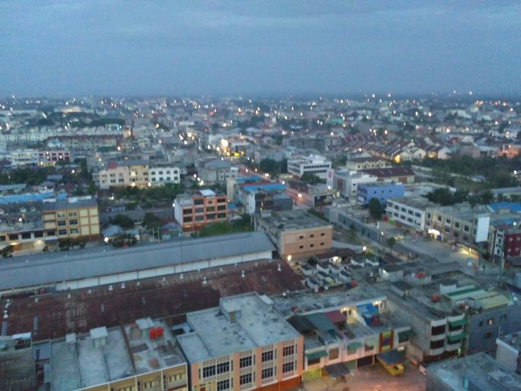 Early morning in Pekanbaru City, Riau.