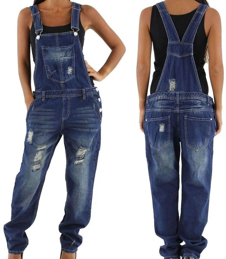 NEU RELAXED LATZHOSE BOYFRIEND JEANS BAGGY HOSE OVERALL 36 38 40 42 44 S M L XL