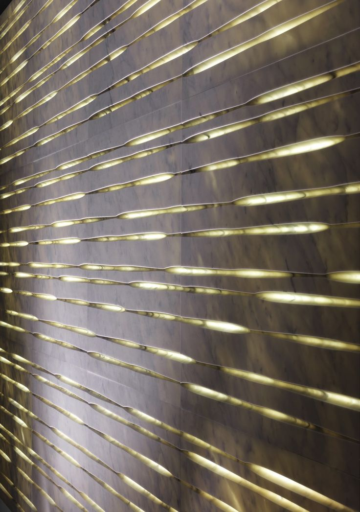 3D Wall surface design by Raffaello Galiotto :: back-lit modular stone claddings