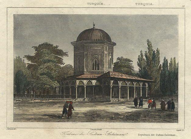 Turkey, Istanbul, Tomb of the Sultan Süleyman, 1847