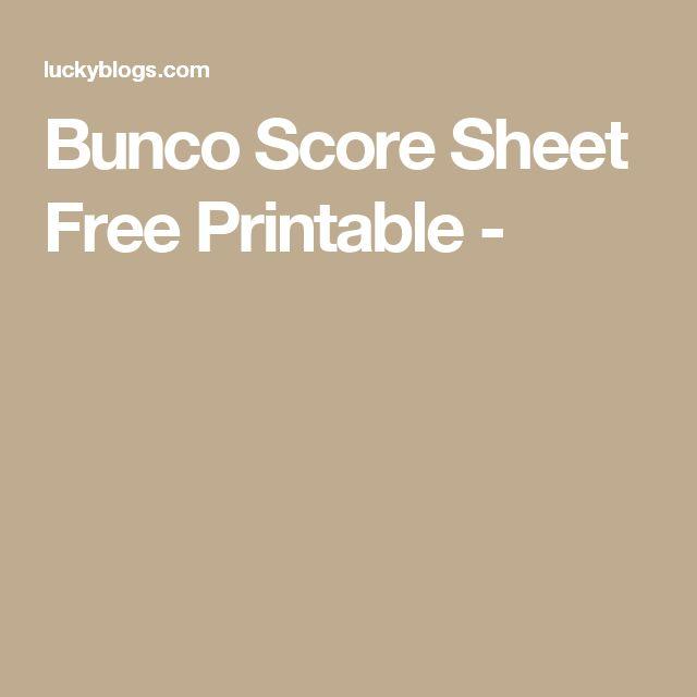 Best  Bunco Score Sheets Ideas On   Bunco Party