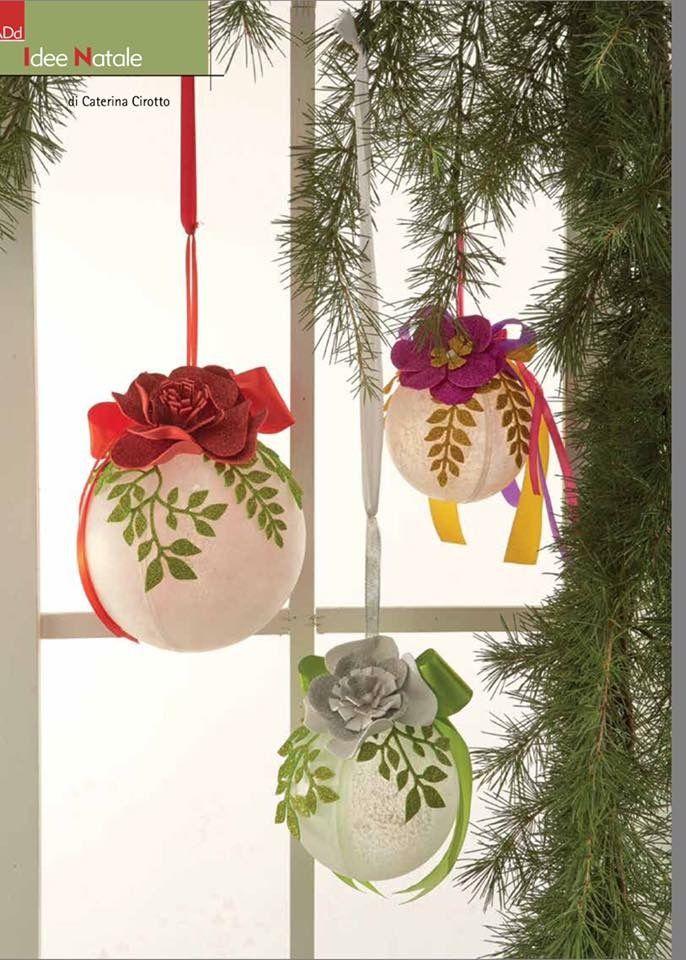 Sfere Ghiacciate con fiori gomma Crepla.  ADdn.80 Novembre/Dicembre