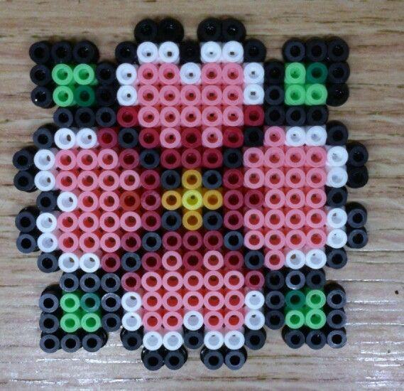 Flower hama perler beads by Sonja Ahacarne