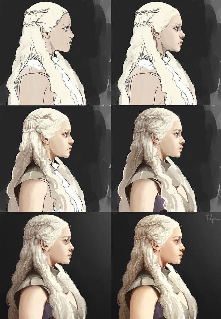 Daenerys - Digital Painting Tutorial by Edniz.deviantart.com on @DeviantArt