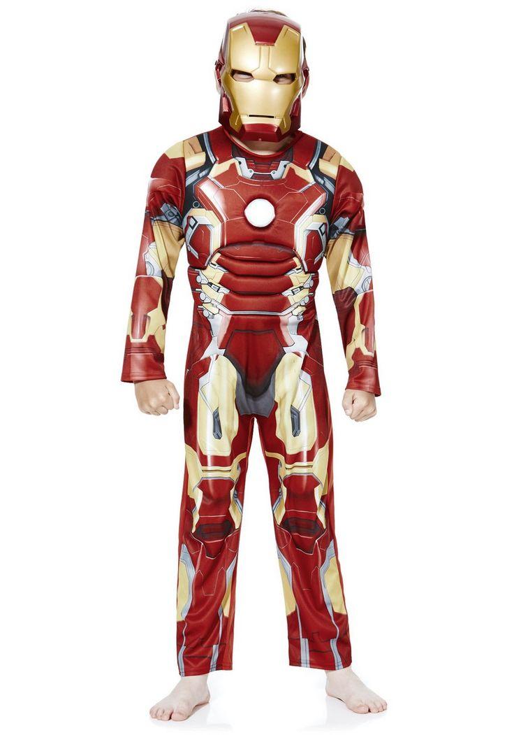 Clothing at Tesco | Marvel Iron Man Dress-Up Costume > fancy dress > Fancy Dress > Kids