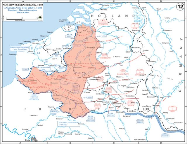 The Allied position was quite terrible, once surrounded, they had little hope of breaking through.