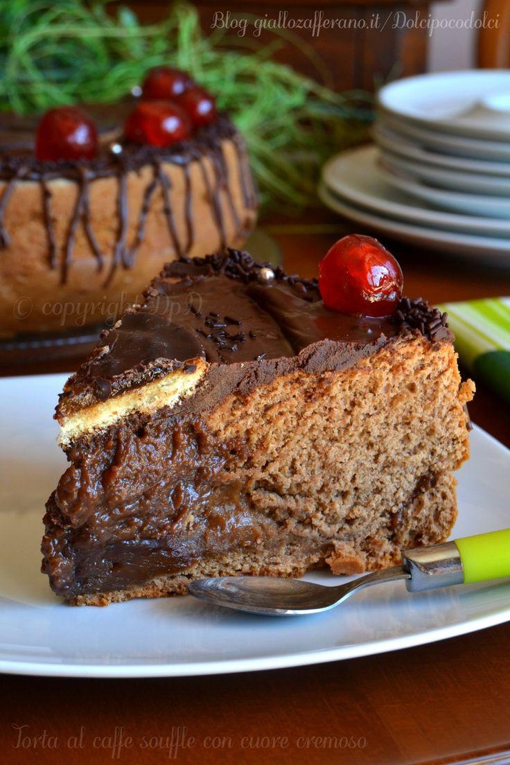 #Torta al #caffe #souffle con #cuore #cremoso #Ricetta #dolci