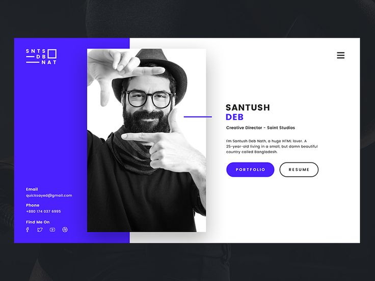 Dribbble - Personal VCard by Ali Sayed