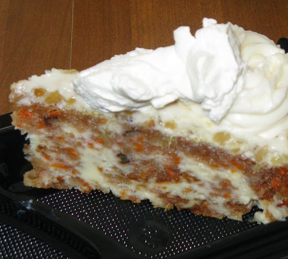 "CHEESECAKE FACTORY CARROT CAKE CHEESECAKE RECIPE: ~ From: ""Secret Copycat Restaurant Recipes.Com."" ~ The dynamic duo of carrot cake and cheesecake mingle in this over-the-top elegant and easy dessert from the Cheesecake Factory."