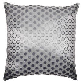 polkadotted pillow in silver product material cotton cover and recycled virgin polyester fiber fillcolor knife