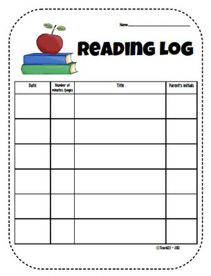 Printable reading logs for kindergarten 1000 images for Summer reading log template