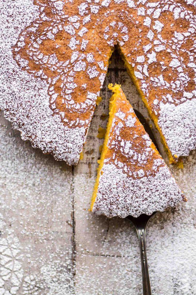 Gluten Free Tangerine Cake Vertical Photograph Flourless