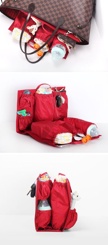 ToteSavvy, your favorite diaper bag organizer insert, is now available in luxe red – www.lifeinplaycompany.com