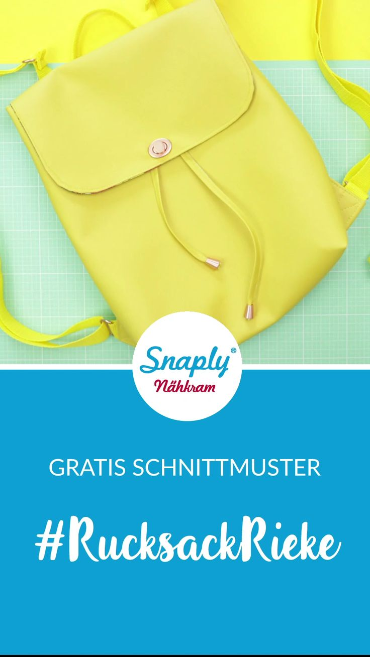 Sew on a backpack – free sewing pattern