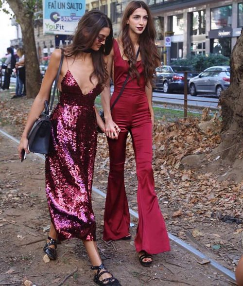 the wine colored silk overalls are gorgeous!!