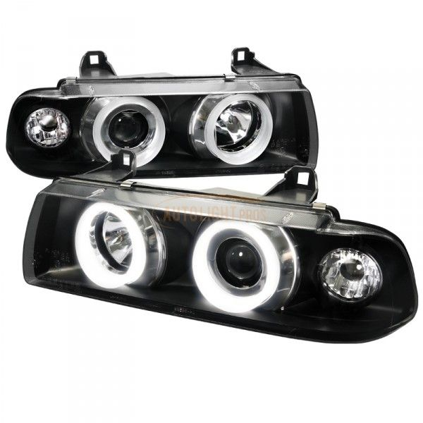 Spec-D 6LHP-E3621PCJM-TM | 1996 BMW 3 Series Smoke Halo Projector Headlights for Coupe/Sedan/Wagon