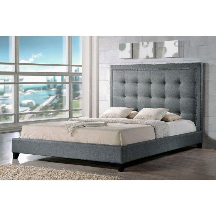 Baxton Studio Angelica Modern Platform Bed Bbt6377 Grey King