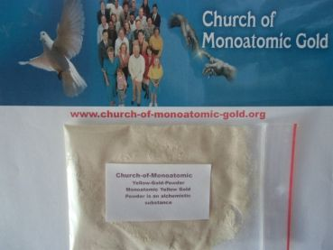 church-of-monoatomic-gold.org - Church-of-Monoatomic Yellow Gold Powder ist eine alchemistische Substanz