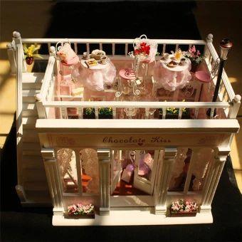 """ขอแนะนำ  Senglee888 องค์กวนอูนั่งอ่านหนังสือ ถือง้าวฐานแก้วพ่นทราย 6""""  CUTEROOM DIY House with the Beautiful Music Handmade Craft House 3DDollhouse for Kids Home Decor. (Intl)  ราคาเพียง  688 บาท  2,744 บาท  เท่านั้น คุณสมบัติ มีดังนี้ ตกแตงบ้าน เรซิ่นพ่นทรายทอง มีอำนาจบารมี With beautiful music Cartoon creative personality design Good choice as a present for child/friend/family Make yourself a fine arts and crafts Size: 30.5*22.5*19.5cm Home Decoration"""