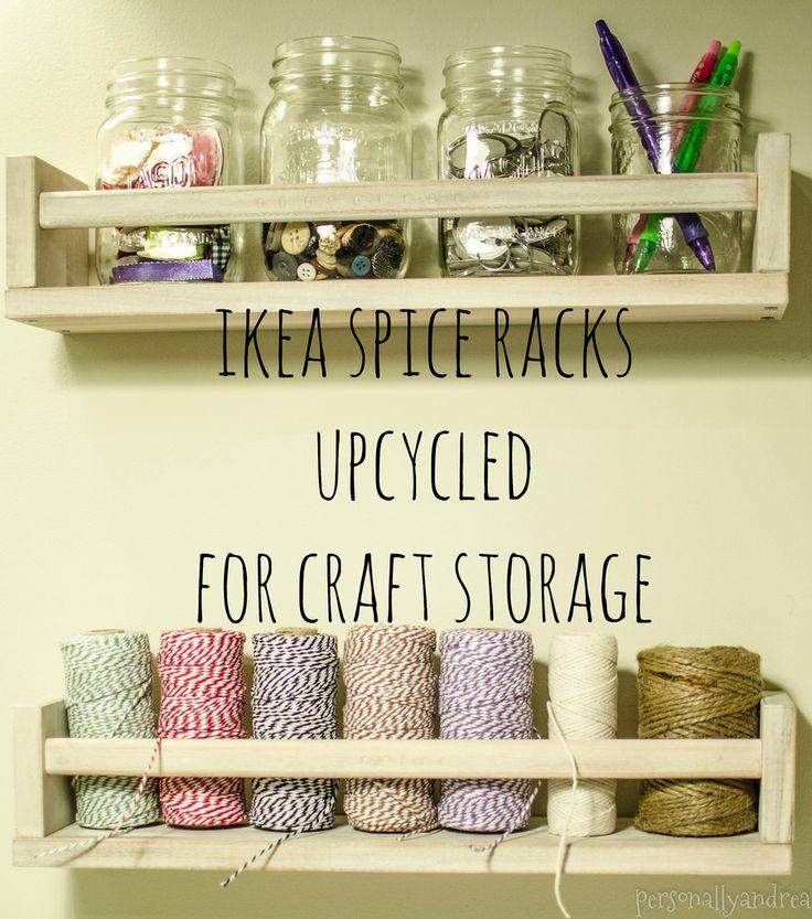 IKEA Spice Racks Upcycled for Craft Storage - personallyandrea.com
