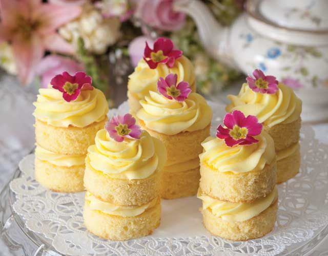 Lemon Buttercream Cakes:  Afternoon tea just isn't complete without cake, and these Lemon Buttercream Cakes are the perfect ending to a lovely tea.