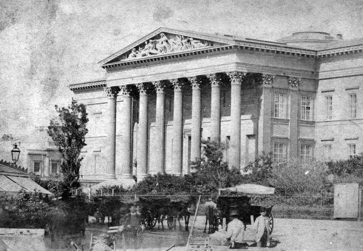 Nemzeti Múzeum. A felvétel 1875 körül készült.