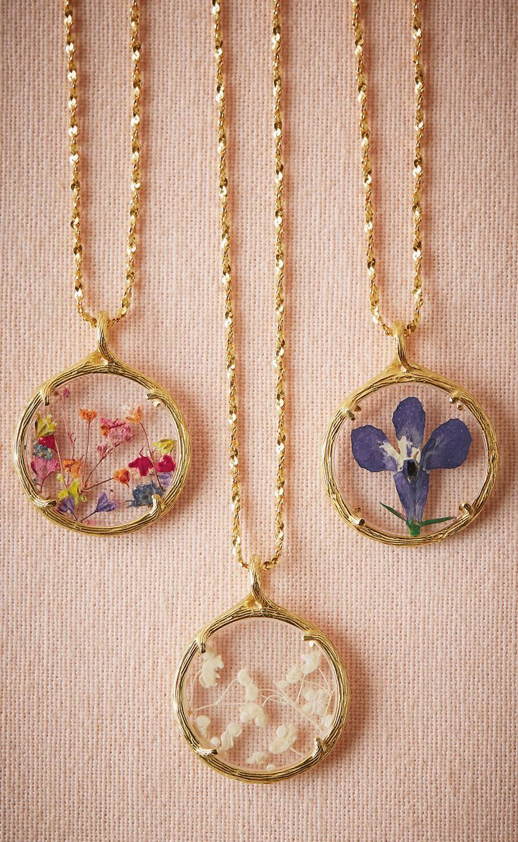 Pressed floral necklace
