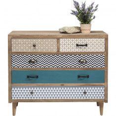 Capri dressoir 5 lades bruin - Kare Design ?>