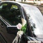Свадебное украшение на зеркала машины #arenta # arenta_kharkov #аренда_авто