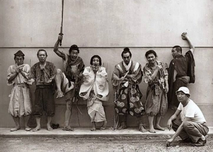 Akira Kurosawa And The Cast Of Rashomon 羅生門 アキラ 京マチ子