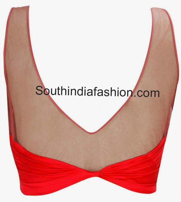 Stylish Red Net Blouse ~ Celebrity Sarees, Designer Sarees, Bridal Sarees, Latest Blouse Designs 2014