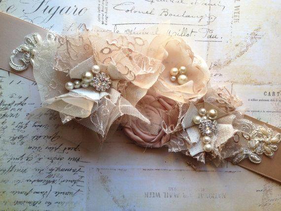 Bridal Sash Belt Wedding Sash Belt  Blush by TheRaggedDiamond, $67.00