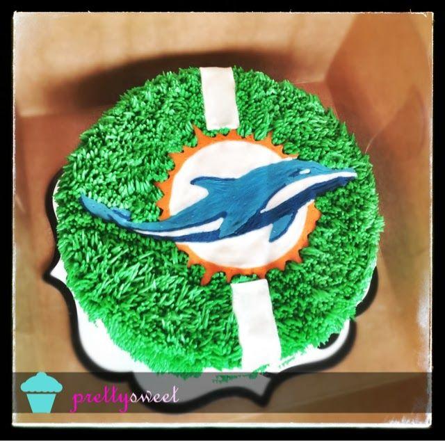 Pretty Sweet:: Miami Dolphins 50th Birthday Cake