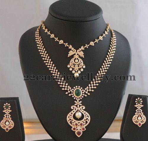 Peacock Diamond Set by Tanmai Jewels