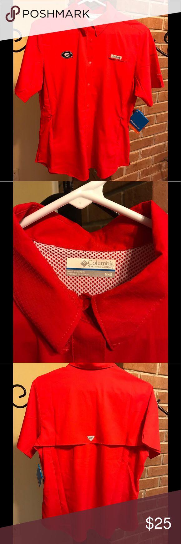 Brand new Georgia Bulldog Columbia PFG shirt Brand new Columbia Tops Button Down Shirts