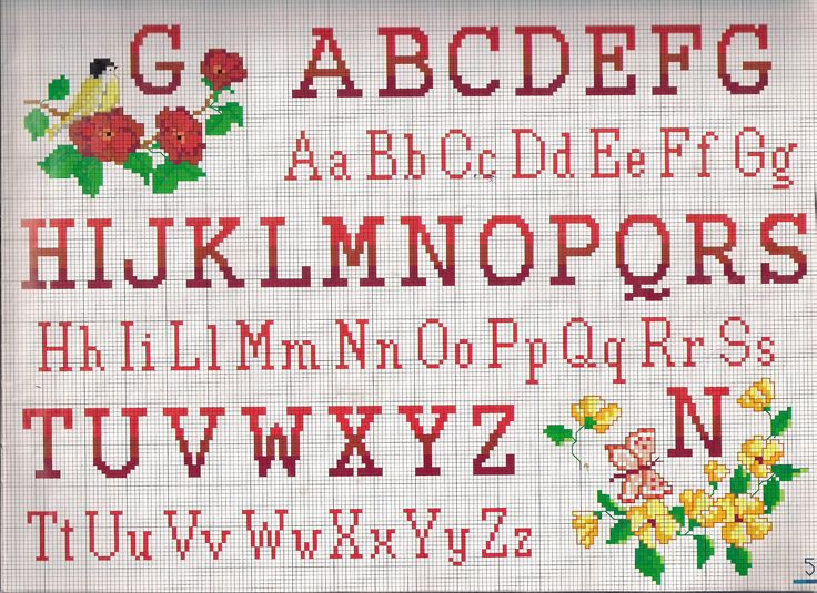 alfabeto stampatello maiuscolo minuscolo - magiedifilo.it punto croce uncinetto schemi gratis hobby creativi