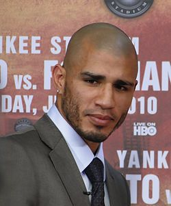José Miguel Cotto Vázquez (born June 22, 1977 in Caguas, Puerto Rico) is a Puerto Rican professional boxer and is a four-time Regional level Champion. He is the brother of the four-time World Champion boxer Miguel Angel Cotto. Cotto, who has boxed for most of his career under the shadow of his brother and shares a similar peekaboo come forward style, trained at Bairoa Gym in Caguas.