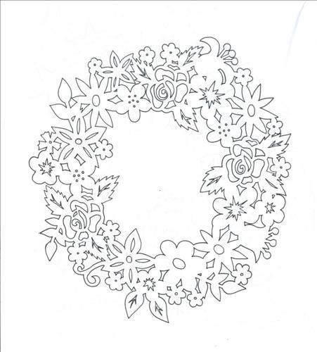цветы венок