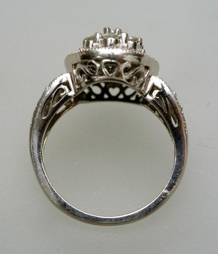vintage estate diamonds 10k white gold wedding