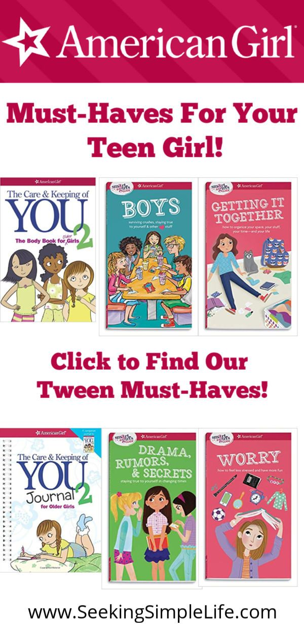 Books that help tween girls and teen girls with life skills that matter!  Body image