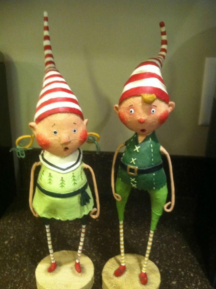 "ESC Trading Lori Mitchell Christmas Tootsie Tinker Twinkle Large Set 12"" Tall | eBay"