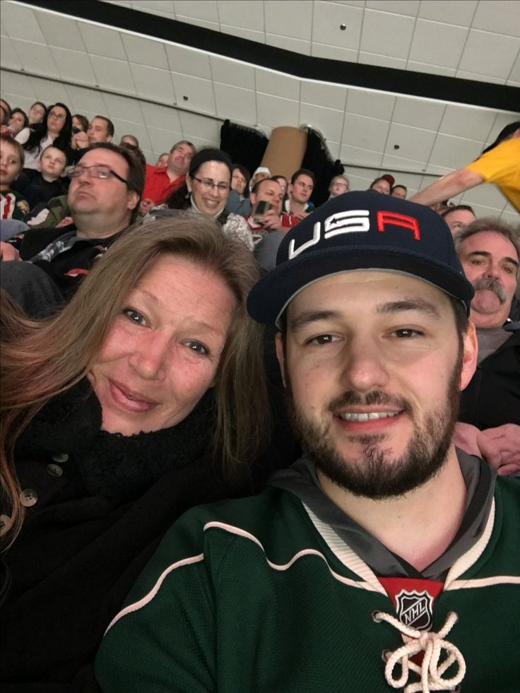 Tyler took his mom out tonight for dinner and a hockey game!  Best man in the world to go out with.  The Wild beat Ottawa 5 to 1 and it was a full house!  Lovely!